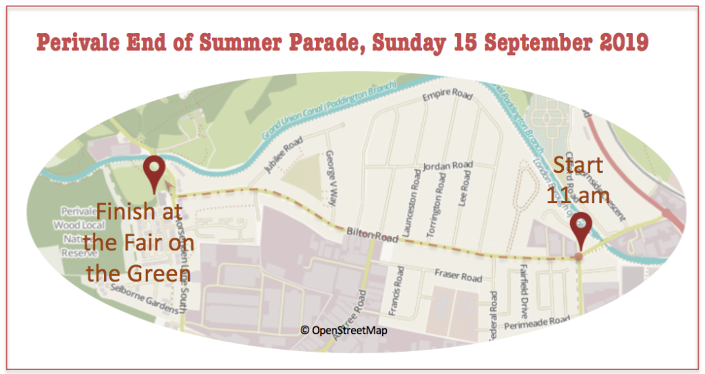 Perivale End of Summer Parade 2019